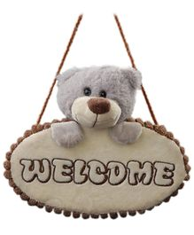 Play N Pets - Teddy Bear Door Hanger Grey