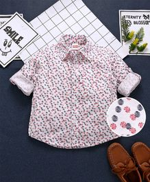 Babyhug Full Sleeves Printed Shirt - White