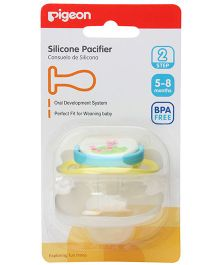 Pigeon Silicone Pacifier Step 2 Caterpillar Design - Blue & Yellow