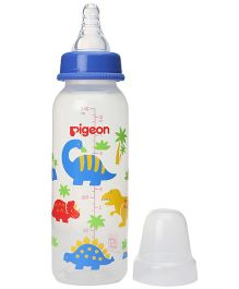Pigeon Slim Neck BPA Free Plastic Feeding Bottle Medium Dino Blue - 240 ml