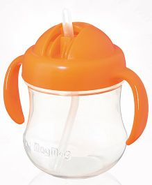 Pigeon Mag Mag Straw Cup with Handle Orange 200 ml