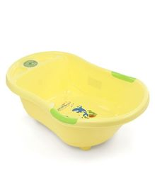 Musical Baby Bath Tub Dolphin Print - Yellow
