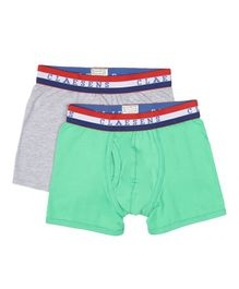 Claesens Holland Pack Of 2 Boxer - Green & Grey