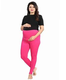 Mamma's Maternity Solid Full Length Maternity Legging - Pink