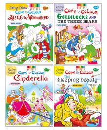 Fairy Tales Copy to Colour Books With Story Pack of 4 - English