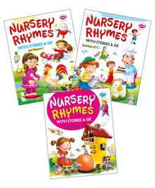 My First Board Book Nursery Rhymes Set of 3 Books - English