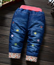 Pre Order - Awabox Mushroom Design Full Length Jeans - Blue