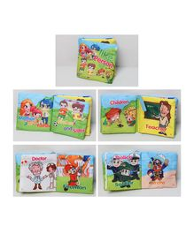 2 Footya Professions Themed Cloth Book - English