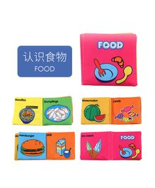 2 Footya Food Themed Cloth Book - English