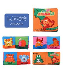 2 Footya Animals Themed Cloth Book - English