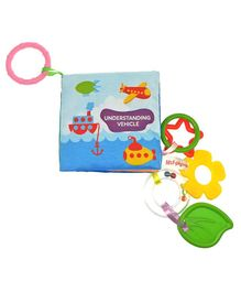2 Footya Vehicles Cloth Book & Teethers - Multi Colour
