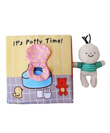 2 Footya It's Potty Time Cloth Book - Multi Colour