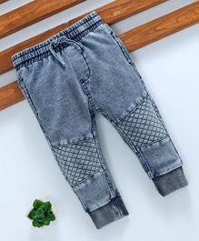 Fox Baby Full Length Jeans With Drawstring - Blue