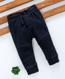 Fox Baby Full Length Jogger Jeans With Drawstring - Navy Blue