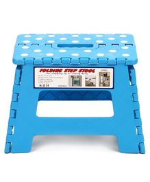 Folding Stepping Stool Polka Dots Print - Blue