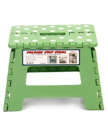 Folding Stepping Stool Polka Dots Print - Mint Green