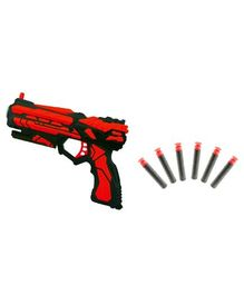 Emob High Speed Gun Toy With Foam Bullets - Red Black