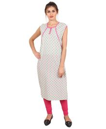 9teenAGAIN Sleeveless Nursing Kurti - Pink