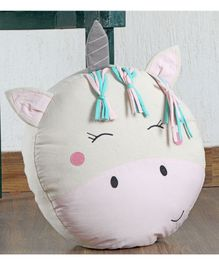My Gift Booth Unicorn Shaped Cushion - White