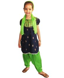 DotnDitto - Puff Sleeves Kurta Salwar Set