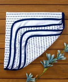Babyhug Cotton Towel Waves Print - Royal Blue