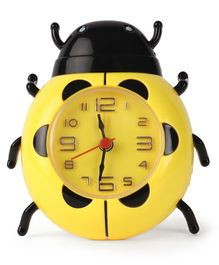 Bug Shaped Alarm Clock - Yellow & Black