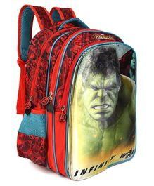 Avengers Infinity War School Bag Red - Height 16 Inches