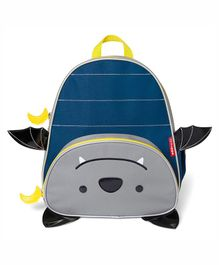 Skip Hop Zoo School Bag Bat Design Blue Grey - Height 11.8 inches