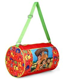 Chhota Bheem Dholakpur Duffel Bag Red  - Height  9 inches
