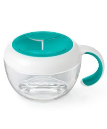 Oxo Tot Flippy Snack Cup With Travel Cover - Teal