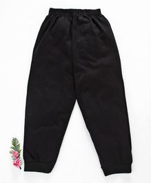 Fido Full Length Solid Color Lounge Pant - Black