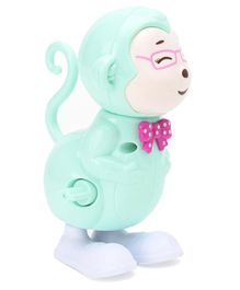 Playmate Jumping Moneky Wind Up Toy - Light Green