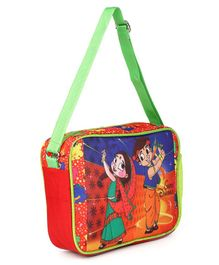 Chhota Bheem & Chutki Garba Dhamaka Messenger Bag Red - Height 9 inches