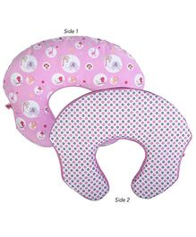 Bright Starts 2 in 1 Feeding Pillow Baby Lounger - Pink