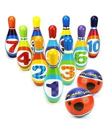 Emob Foam Bowling Sports Toy Set 10 Pins And 2 Balls - Multicolor