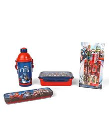 Marvel Avengers School Kit Red & Blue - Pack Of 8