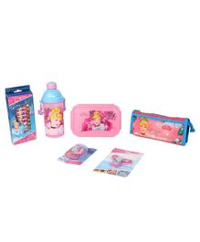 Disney Princess School Kit Pack of 6 - Pink & Blue