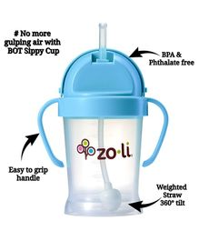 Zoli BOT Sipper Cup With Handles Blue - 175 ml