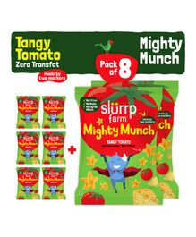 Slurrp Farm Mighty Munch Tangy Tomato - Pack of 8