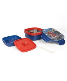 Avengers Insulated Lunch Box With Stainless Steel Inside - Navy & Red