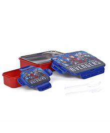 Avengers Insulated Lunch Box With Stainless Steel Inside - Blue And Red