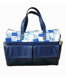 Strut Diaper Bag Abstract Design - Navy Blue