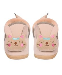Crayonflakes Kitty Applique Booties - Beige