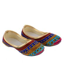 Little Palz Embroidered Jooties - Multicolor