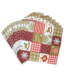 Party Anthem Christmas Themed Paper Napkins Multicolour - 40 Sheets