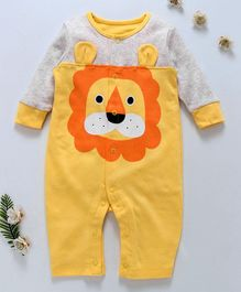 First Movement Lion Face Full Sleeves Romper - Yellow