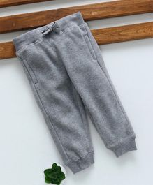 Fox Baby Full Length Thermal Lounge Pant with Drawstring - Light Grey