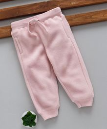 Fox Baby Full Length Thermal Lounge Pant with Drawstring - Pink