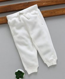 Fox Baby Full Length Thermal Lounge Pant with Drawstring - White