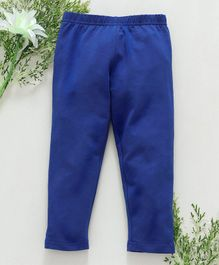 Babyhug Full Length Cotton Stretchable Leggings - Blue